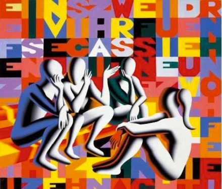 Mark Kostabi, Tapestry of the wits, 2006
